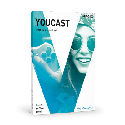 broadcast live with youcast – creative & ux design @  magix