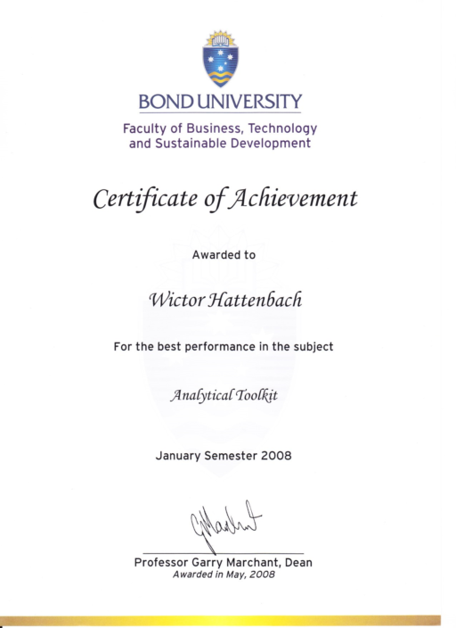 analytical toolkit wictor hattenbach