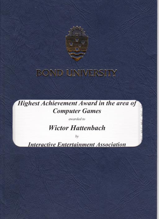 interactive entertainment association #1 wictor hattenbach